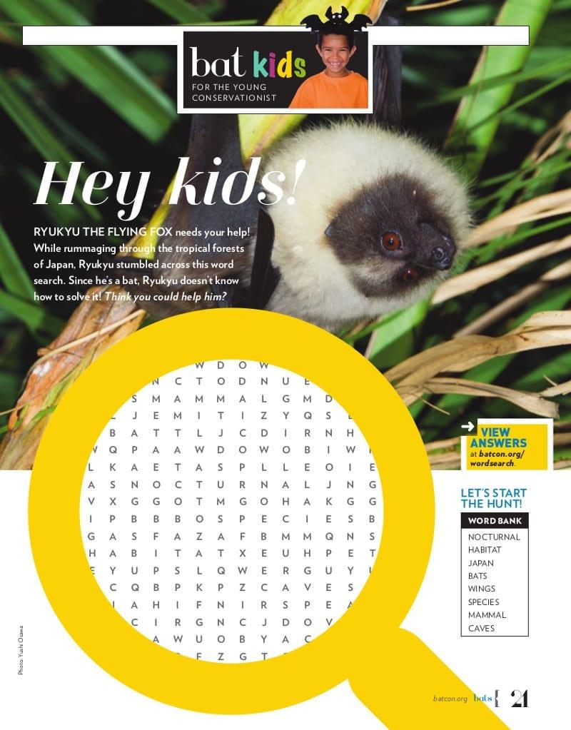 Bat Kids - Batty Word Search