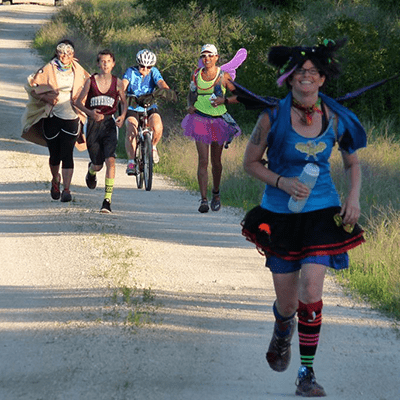 Niki Lake raises money for BCI by running marathons.